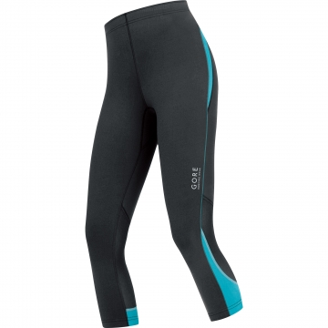ESSENTIAL LADY Tights 3/4 - Black / Scuba Blue