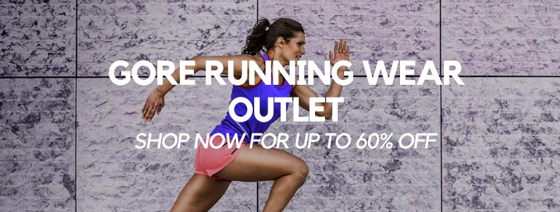 Receive up to 60% off Gore Running Wear in the TG Store Outlet!