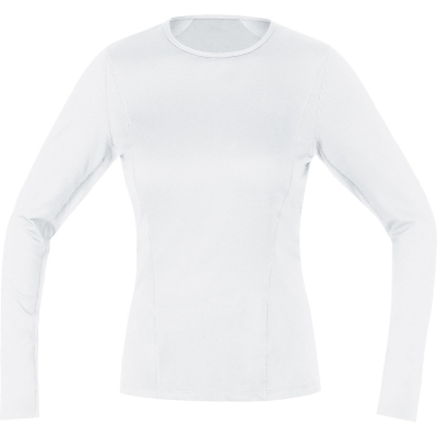 GORE® M Women Base Layer Long Sleeve Shirt - White