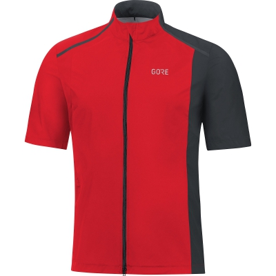 GORE® R7 GORE® WINDSTOPPER® Shirt - Red / Black