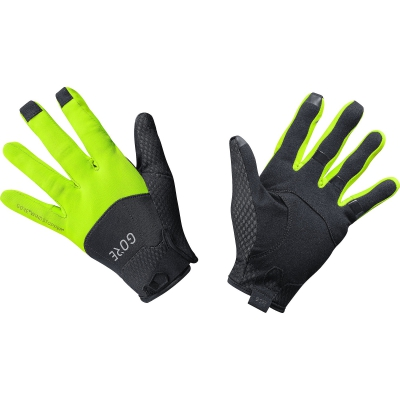 GORE® C5 GORE® WINDSTOPPER® Gloves - Black / Neon Yellow