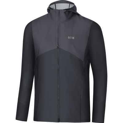 GORE® R3 GORE® WINDSTOPPER® Hooded Jacket - Terra Grey / Black