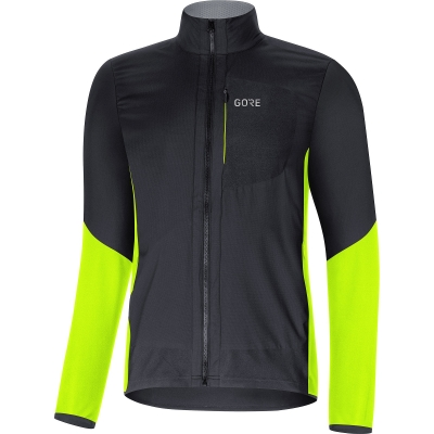 GORE® C5 GORE® WINDSTOPPER® Insulated Jacket - Black / Neon Yellow