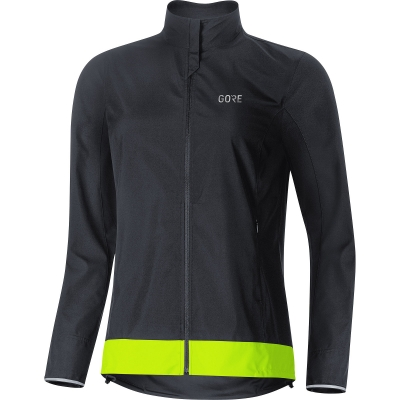 GORE® C3 Women GORE® WINDSTOPPER® Classic Jacket - Black / Neon Yellow