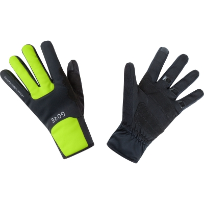 GORE® M GORE® WINDSTOPPER® Thermo Gloves - Black / Neon Yellow