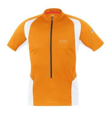 MAGNITUDE 2.0 Zip Shirt - Vibrant Orange / White