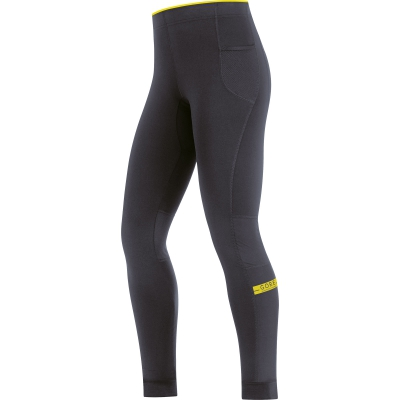 AIR LADY Tights - Raven Brown / Cadmium Yellow