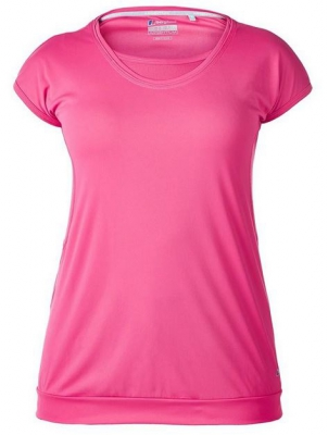 WOMEN'S VAPOUR SHORT-SLEEVE CREW-NECK T-SHIRT - Raspberry