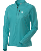 LADIES SCRAMBLE Q LS ZIP TEE