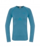 WOMENS HYBRID LONG SLEEVE CREW NECK SHIRT - Prussian Blue