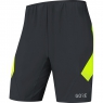 GORE® R5 2in1 Shorts - Black / Neon Yellow