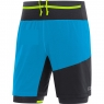 GORE® R7 2in1 Shorts - Dynamic Cyan / Black