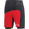 GORE® R7 2in1 Shorts - Black / Red