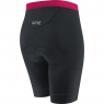 GORE® C7 Women CC Short Tights+ - Black / Raspberry Rose