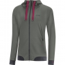 GORE® C5 Women GORE® WINDSTOPPER® Trail Hooded Jacket - Castor Grey / Terra Grey