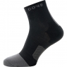 GORE® R7 Mid Socks - Black / Graphite Grey