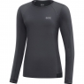 GORE® R5 Women Long Sleeve Shirt - Terra Grey / Black