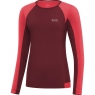 GORE® R5 Women Long Sleeve Shirt - Chestnut Red / Hibiscus Pink