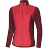 GORE® R5 Women GORE® WINDSTOPPER® Long Sleeve Shirt - Hibiscus Pink / Chestnut Red