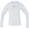 GORE® M Women GORE® WINDSTOPPER® Base Layer L/S Shirt - Light Grey / White