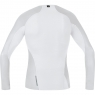 GORE® M GORE® WINDSTOPPER® Base Layer Long Sleeve Shirt - Light Grey / White