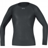 GORE® M GORE® WINDSTOPPER® Base Layer Long Sleeve Shirt - Black