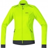 GORE® C3 Women GORE® WINDSTOPPER® Thermo Jacket - Neon Yellow / Black