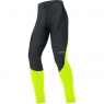 GORE® C3 Partial GORE® WINDSTOPPER® Tights+ - Black / Neon Yellow