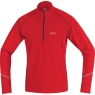 GORE® R3 Thermo Long Sleeve Zip Shirt - Red / Black