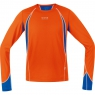 AIR 4.0 Shirt long - Blaze Orange / Brilliant Blue