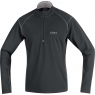 ESSENTIAL Thermo Zip Shirt long - Black / Silver Grey