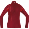 ESSENTIAL 2.0 LADY Shirt Long - Ruby Red / Lumi Orange