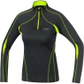 ESSENTIAL 2.0 LADY Shirt Long - Black / Neon Yellow