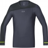 FUSION Shirt long - Graphite Grey / Black