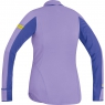 AIR LADY Zip Shirt long - Violet / Speed Blue