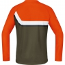POWER TRAIL Jersey long - Blaze Orange / Ivy Green