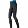 AIR LADY Tights Long - Black / Waterfall Blue
