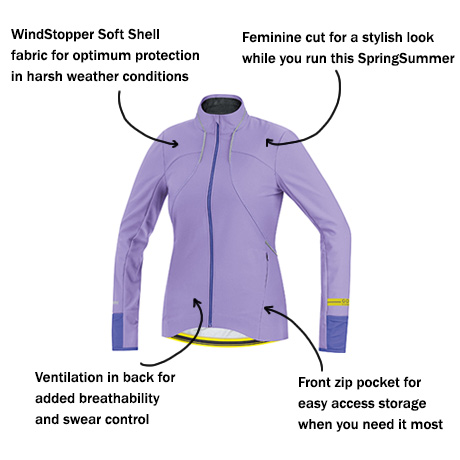 Gore Running Wear Air Lady WS SO Jersey